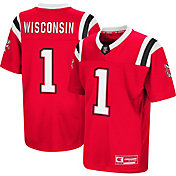 Colosseum Youth Wisconsin Badgers Red Foos-Ball Football Jersey