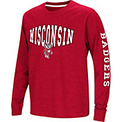 Colosseum Youth Wisconsin Badgers Red Spike Long Sleeve T-Shirt