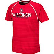 Colosseum Youth Wisconsin Badgers Red Raglan T-Shirt