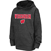 Colosseum Youth Wisconsin Badgers Grey Pullover Hoodie