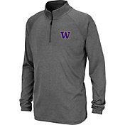 Colosseum Youth Washington Huskies Grey Quarter-Zip Shirt