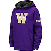 Colosseum Youth Washington Huskies Purple Fleece Pullover Hoodie