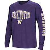 Colosseum Youth Washington Huskies Purple Spike Long Sleeve T-Shirt