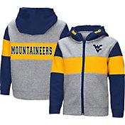 Colosseum Toddler Boys' West Virginia Mountaineers Grey Snowplough Full-Zip Hoodie