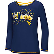 Colosseum Youth Girls' West Virginia Mountaineers Blue Camber Long Sleeve T-Shirt