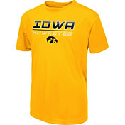 Colosseum Youth Iowa Hawkeyes Gold Dual Blend T-Shirt