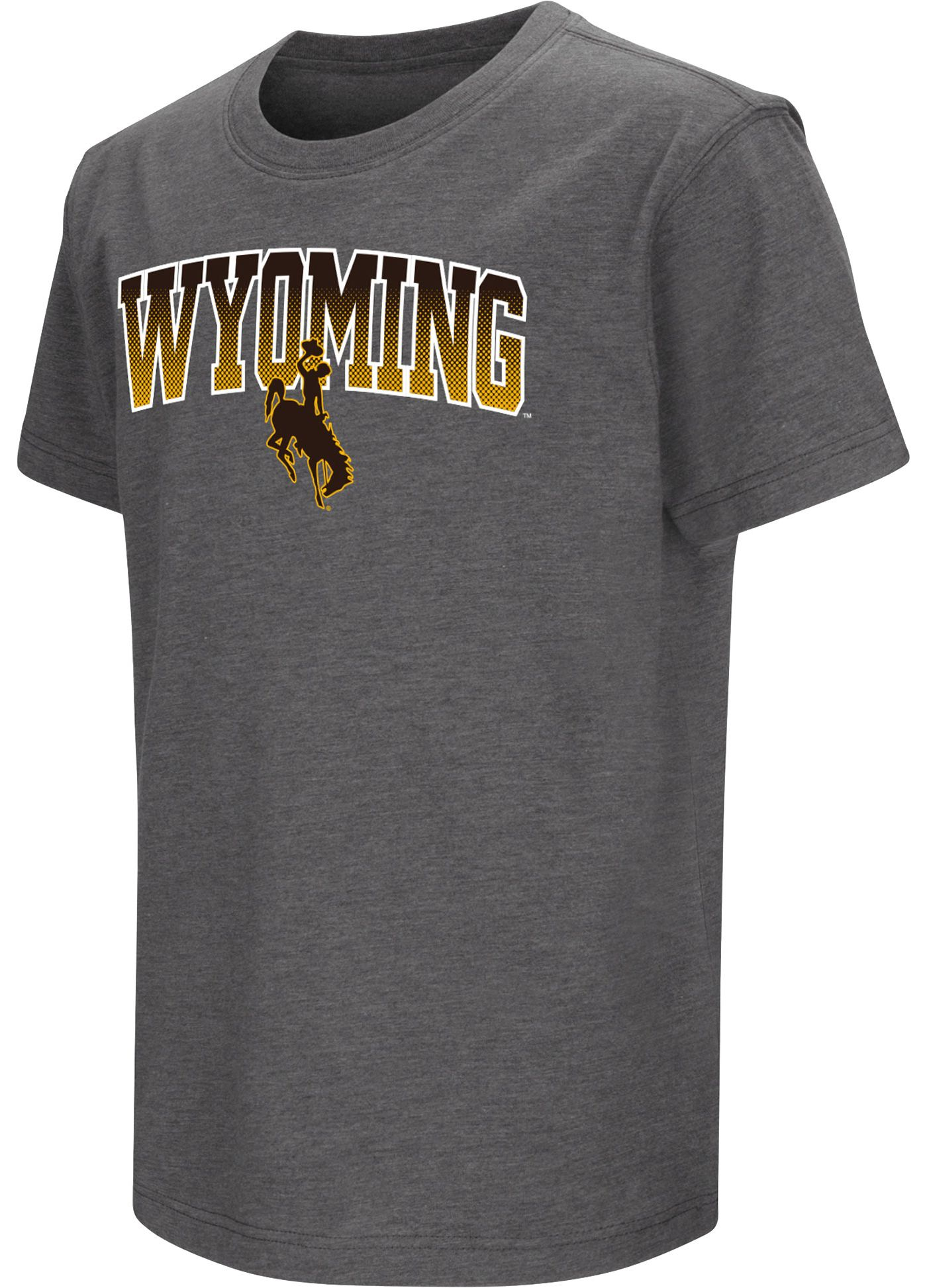 Colosseum Youth Wyoming Cowboys Navy Dual Blend T-Shirt