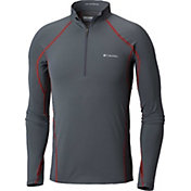 Columbia Men's Midweight Stretch Half Zip Base Layer Shirt
