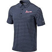 Columbia Men's Atlanta Braves Navy Striped Polo