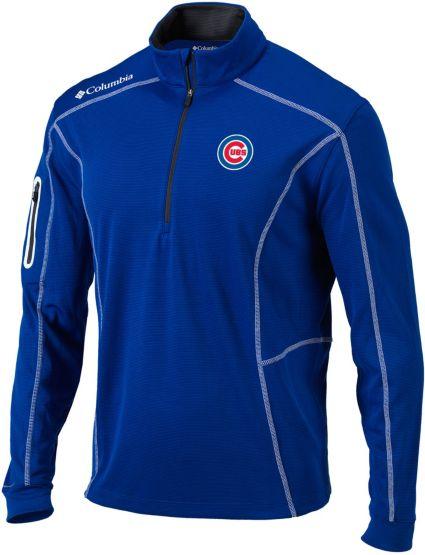 Columbia Men's Chicago Cubs Shotgun Quarter-Zip Performance Pullover