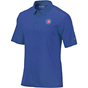 Columbia Men's Chicago Cubs Sunday Striped Polo