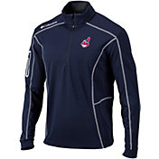 Columbia Men's Cleveland Indians Shotgun Quarter-Zip Performance Pullover