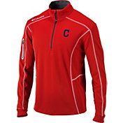 Columbia Men's Cleveland Indians Shotgun Quarter-Zip Performance Pullover