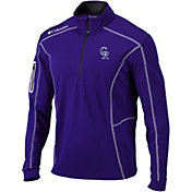 Columbia Men's Colorado Rockies Shotgun Quarter-Zip Performance Pullover
