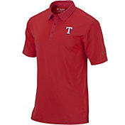 Columbia Men's Texas Rangers Sunday Striped Polo