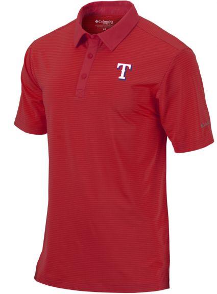 Columbia Men's Texas Rangers Sunday Striped Polo