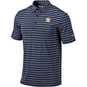 Columbia Men's Houston Astros Navy Striped Polo