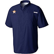 Columbia Men's Houston Astros Navy Tamiami Performance Short Sleeve Shirt
