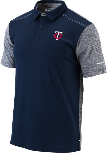 Columbia Men's Minnesota Twins Forged Omni-Freeze Polo
