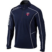 Columbia Men's Minnesota Twins Shotgun Quarter-Zip Performance Pullover