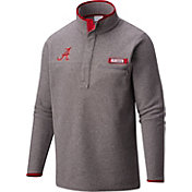 Columbia Men's Alabama Crimson Tide Grey Harborside Fleece Pullover
