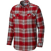 Columbia Men's Alabama Crimson Tide Crimson Plaid Flare Gun Flannel Long Sleeve Shirt