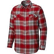 Columbia Men's Oregon Ducks Crimson/White Plaid Flare Gun Flannel Long Sleeve Shirt