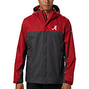 Columbia Men's Alabama Crimson Tide Red/Grey Glennaker Storm Jacket