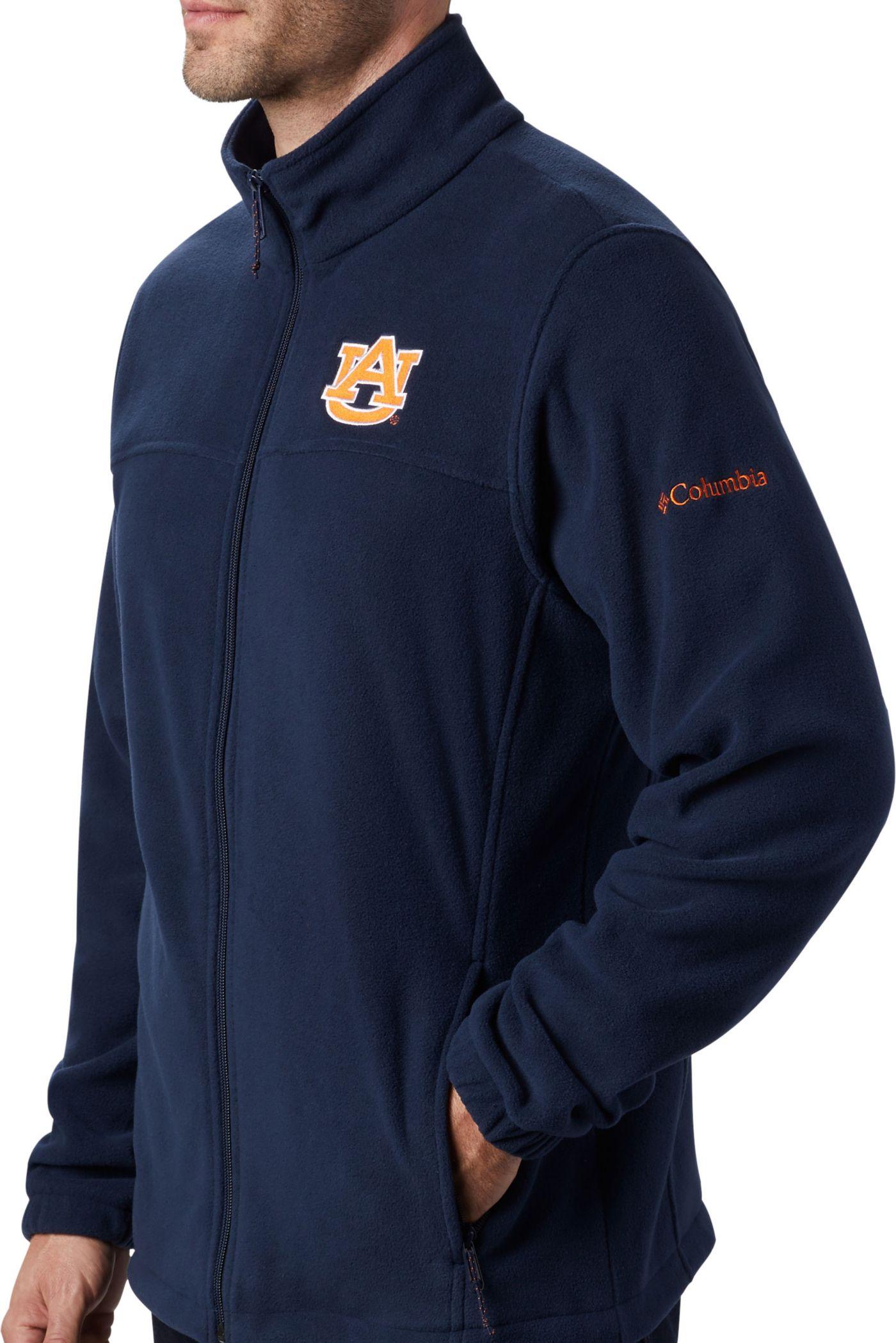 Columbia Men's Auburn Tigers Blue Flanker Full-Zip Fleece Jacket