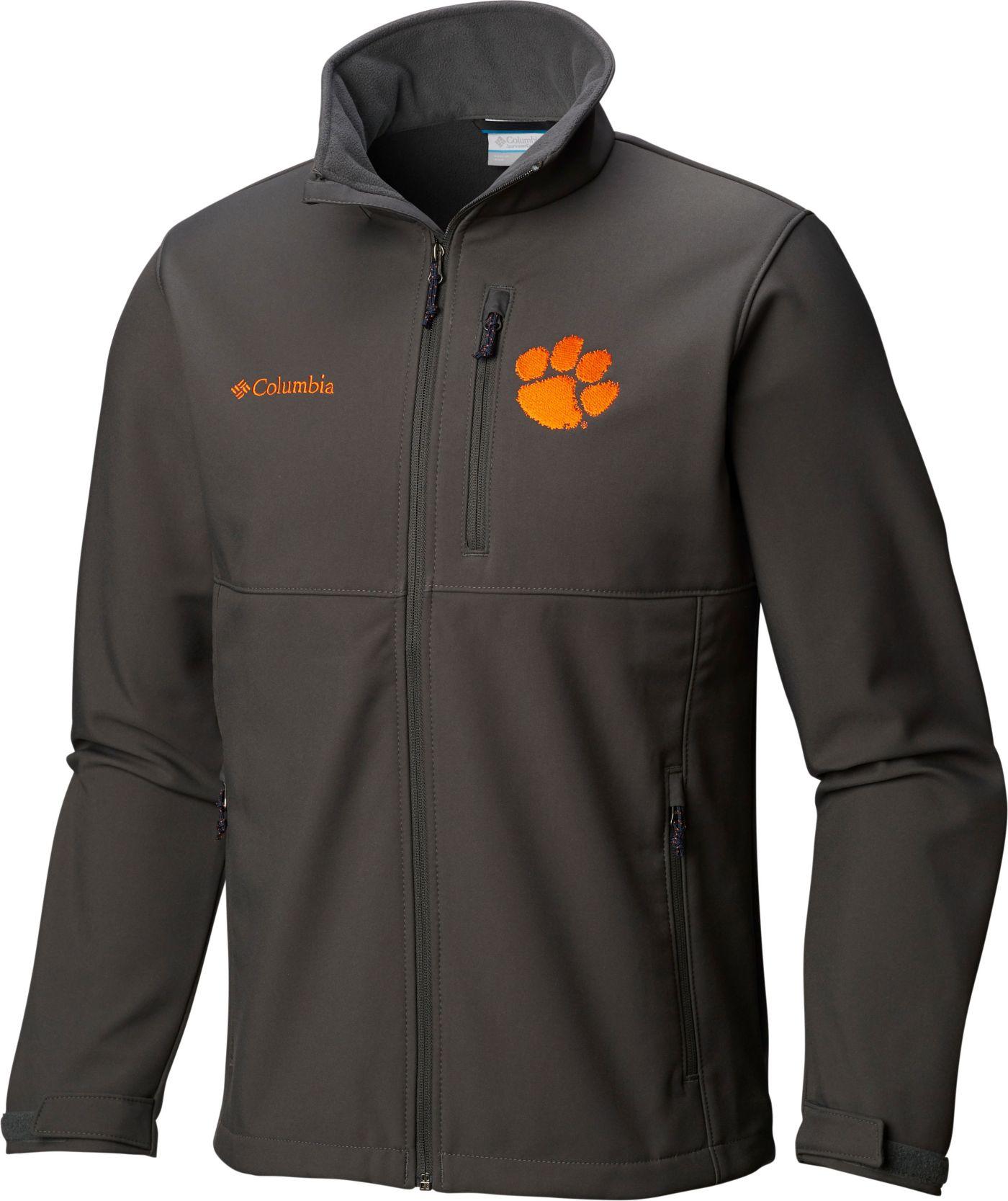 Columbia Men's Clemson Tigers Grey Ascender Jacket