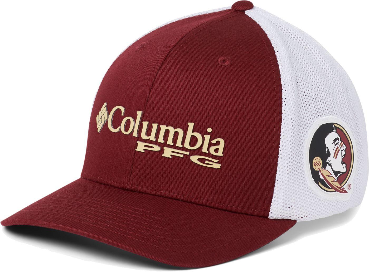 Columbia Men's Florida State Seminoles Garnet PFG Mesh Fitted Hat