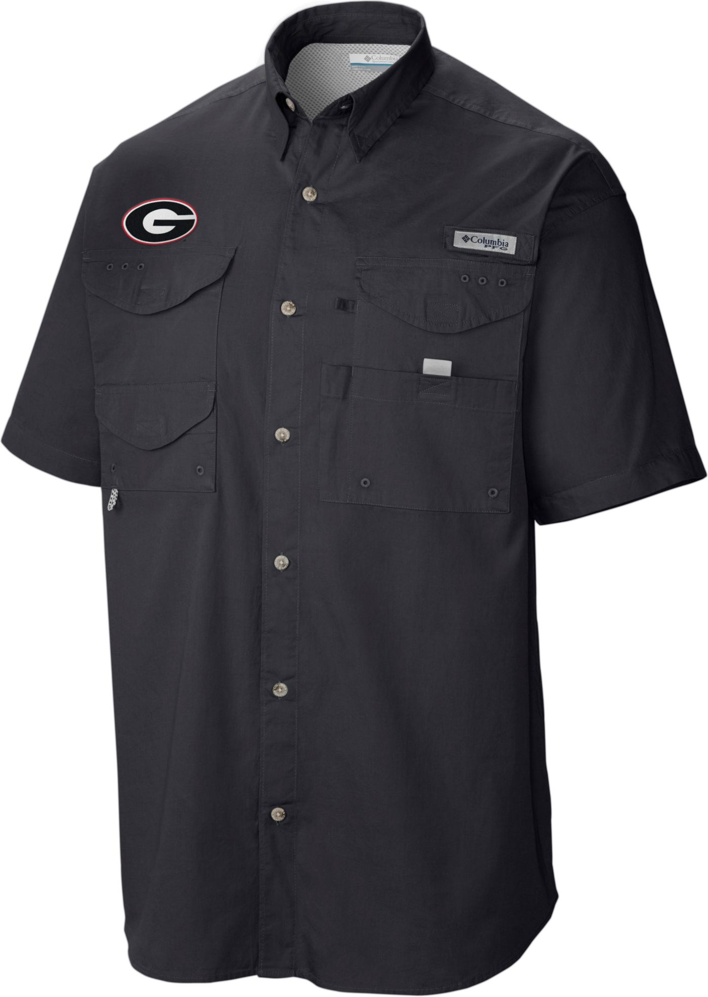 Columbia Men's Georgia Bulldogs Tamiami Performance Black Shirt