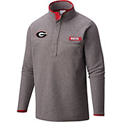 Columbia Men's Georgia Bulldogs Grey Harborside Fleece Pullover