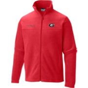 Columbia Men's Georgia Bulldogs Red Flanker Full-Zip Fleece