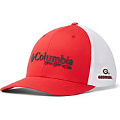 Columbia Men's Georgia Bulldogs Red PFG Mesh Fitted Hat