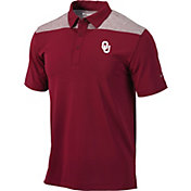Columbia Men's Oklahoma Sooners Crimson Utility Performance Polo