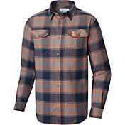 Columbia Men's Illinois Fighting Illini Blue Plaid Flare Gun Flannel Long Sleeve Shirt