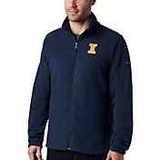 Columbia Men's Illinois Fighting Illini Blue Flanker Full-Zip Fleece Jacket
