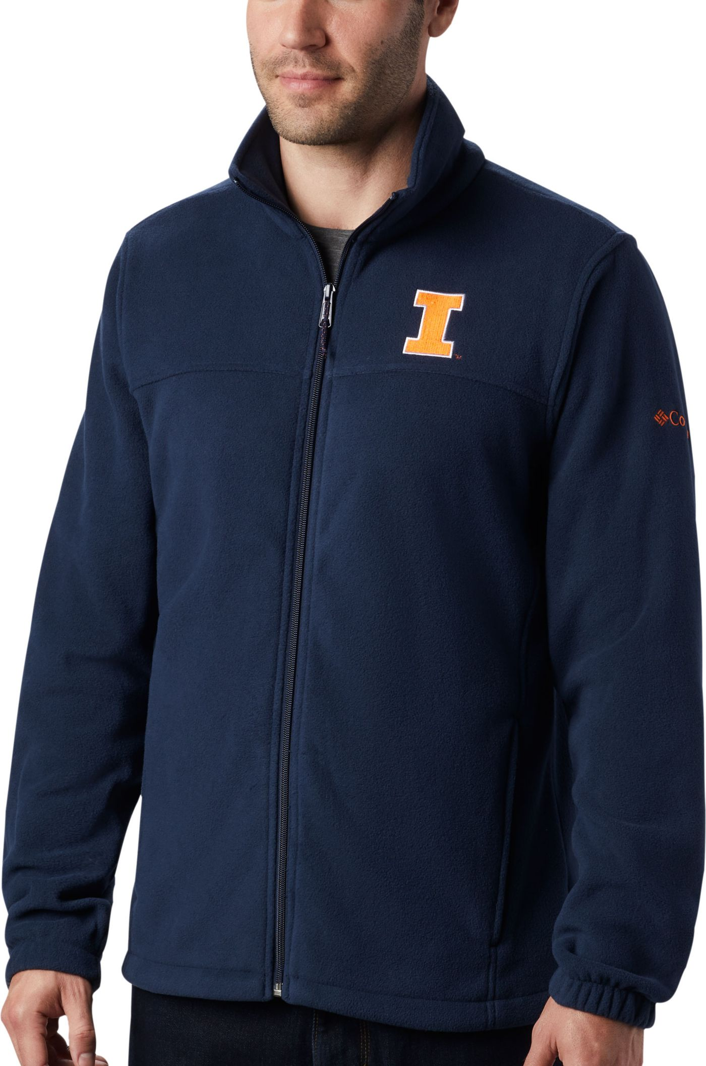 Columbia Men's Illinois Fighting Illini Blue Flanker Full-Zip Fleece Jacket
