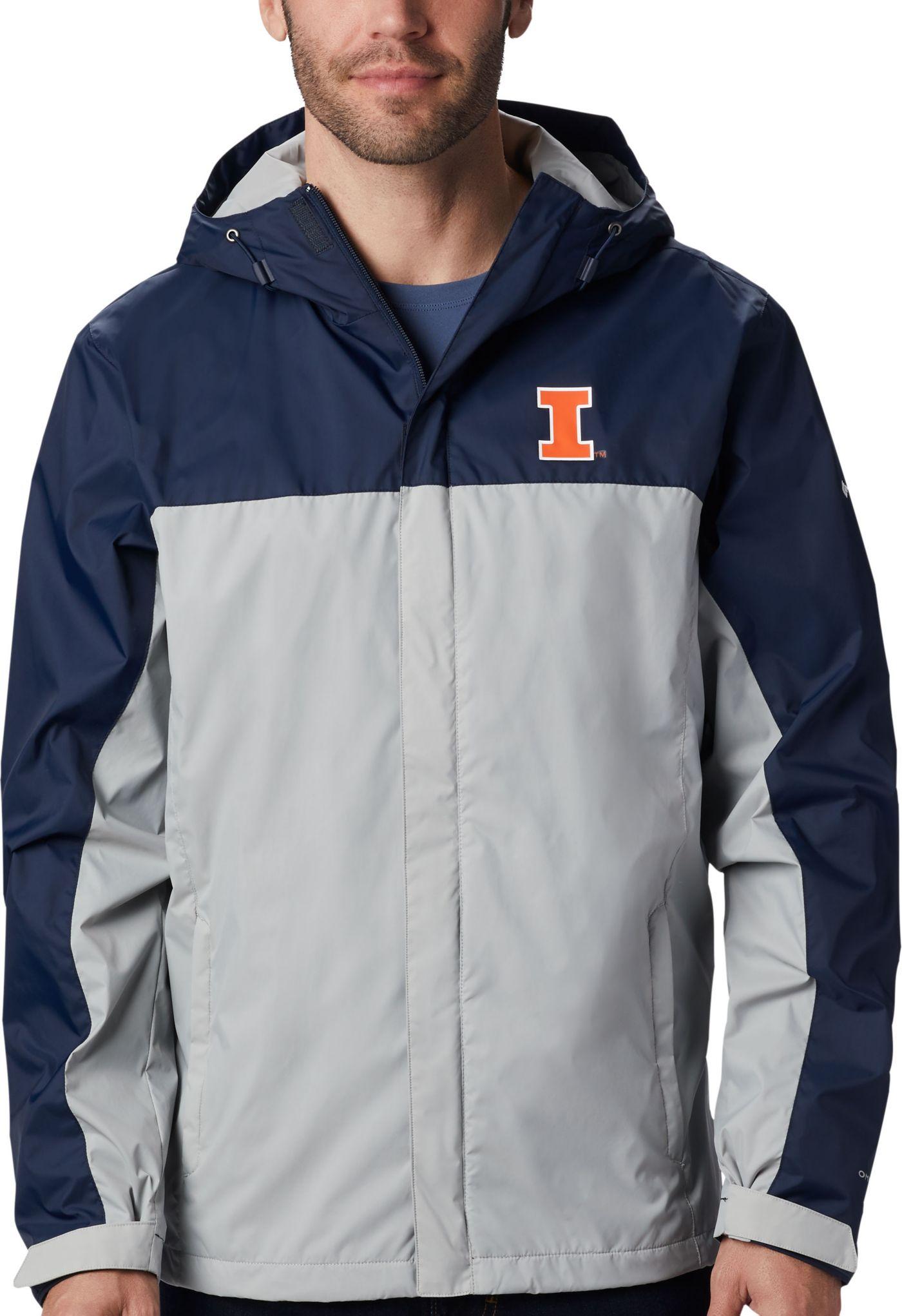 Columbia Men's Illinois Fighting Illini Blue/Grey Glennaker Storm Jacket