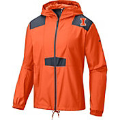 Columbia Men's Illinois Fighting Illini Orange Flashback Windbreaker