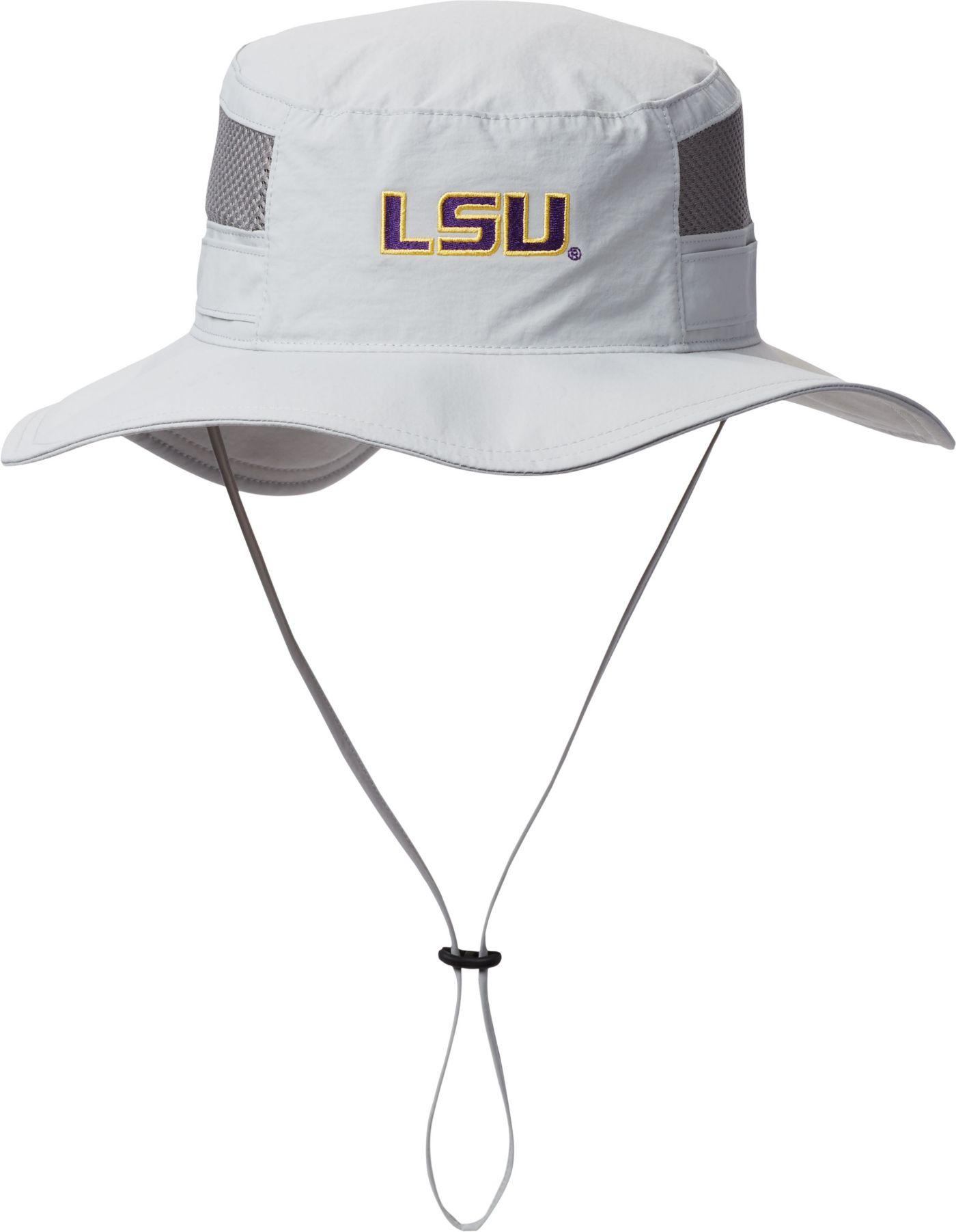 Columbia Men's LSU Tigers Grey Bora Bora Booney Hat