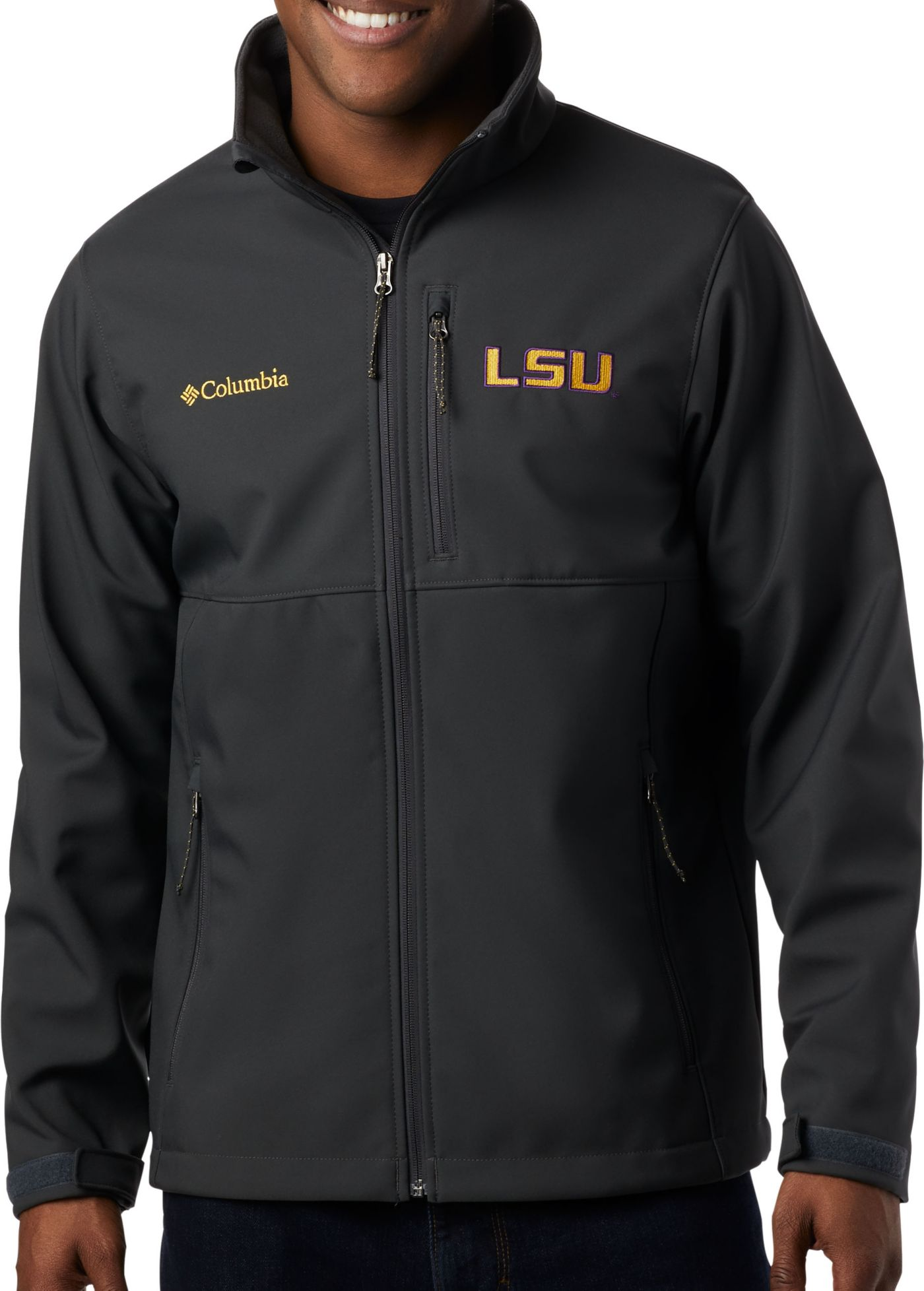 Columbia Men's LSU Tigers Grey Ascender Jacket