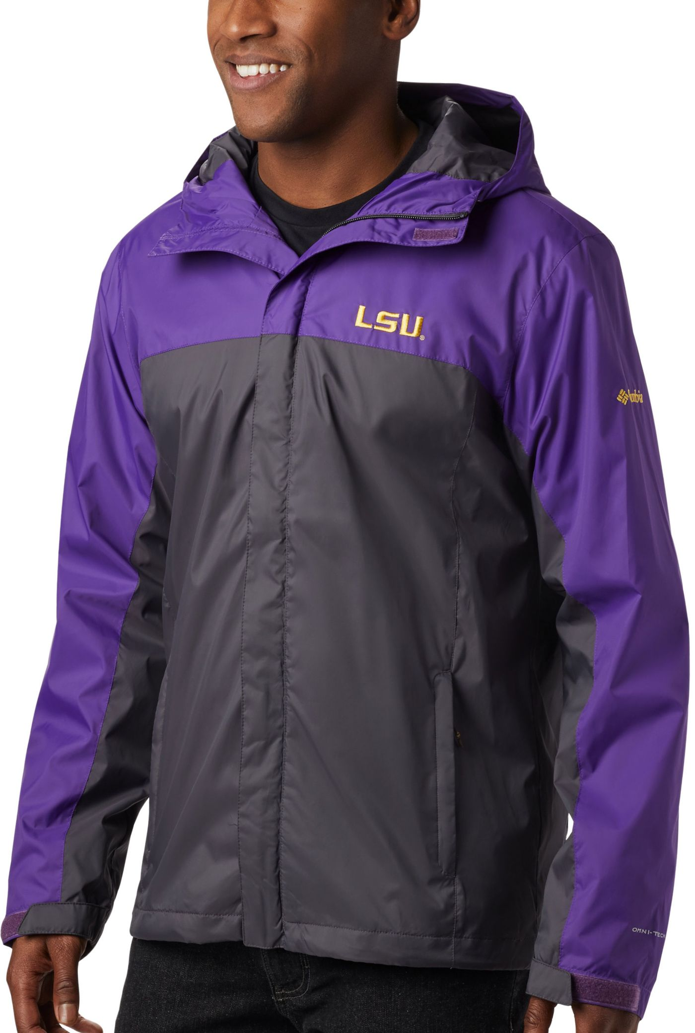 Columbia Men's LSU Tigers Purple/Grey Glennaker Storm Jacket