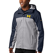 Columbia Men's Michigan Wolverines Blue/Grey Glennaker Storm Jacket