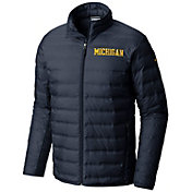 Columbia Men's Michigan Wolverines Blue Lake 22 Down Jacket