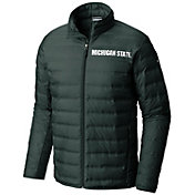 Columbia Men's Michigan State Spartans Green Lake 22 Down Jacket