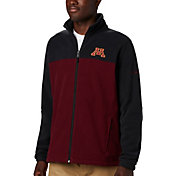 Columbia Men's Minnesota Golden Gophers Black Flanker Full-Zip Fleece Jacket