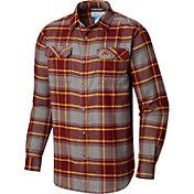 Columbia Men's Minnesota Golden Gophers Maroon Plaid Flare Gun Flannel Long Sleeve Shirt