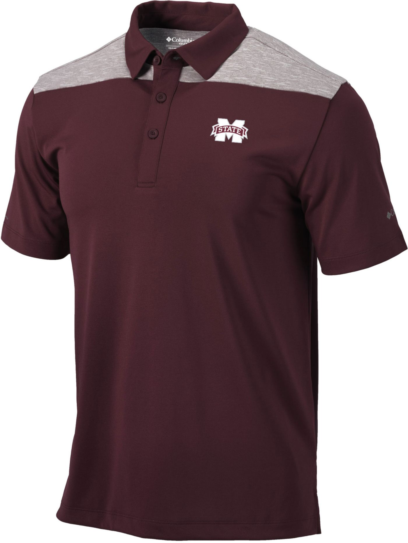 Columbia Men's Mississippi State Bulldogs Maroon Utility Performance Polo